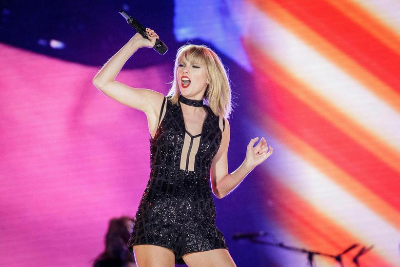 Taylor Swift á tónleikum í fyrra.