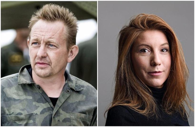 Peter Madsen og Kim Wall á samsettri mynd.