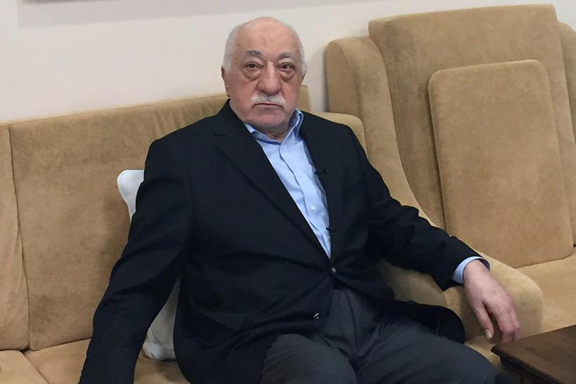 Fethullah Gulen á heimili sínu í Bandaríkjunum.