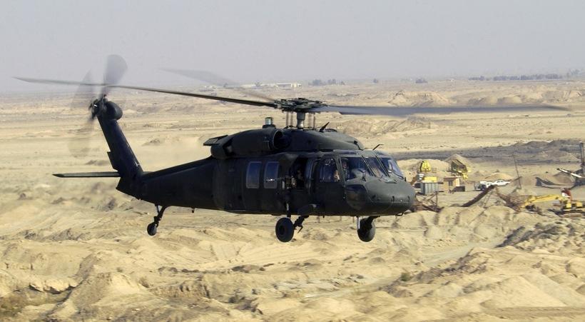 Bandarísk herþyrla af gerðinni UH-60.