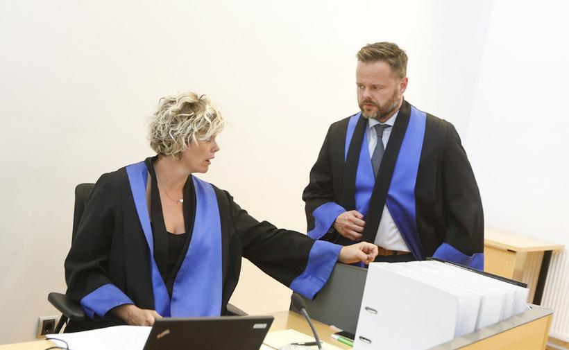 Kolbrún Benediktsdóttir saksóknari og Páll Rúnar M. Kristjánsson verjandi.