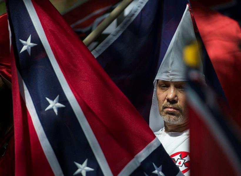 Liðsmaður Ku Klux Klan í Charlottesville. Mynd úr safni.