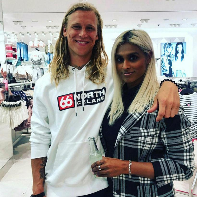 Surf champion and model Heiðar Logi Elíasson with Brynja Dan.