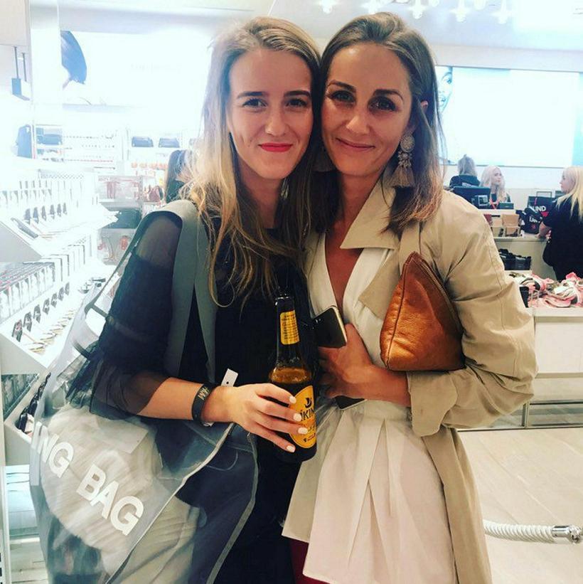 Editor of Glamour Iceland, Álfrún Pálsdóttir on the right, with ...