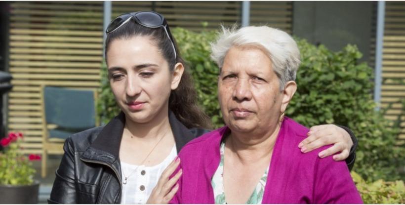 Maryam Raísi og Torpikey Farrash frá Afganistan.