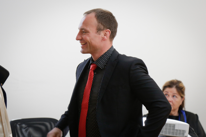Sebastian Kunz, réttarmeinafræðingur kom fyrir Héraðsdóm Suðurlands í dag og ...