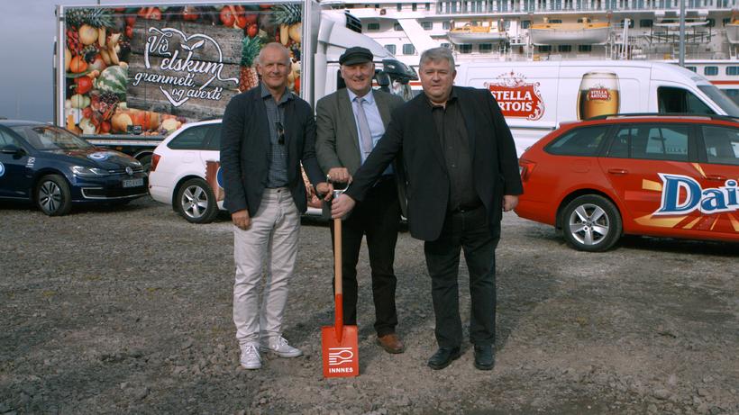 Magnús Óli Ólafsson, Gísli Gíslason og Ólafur Björnsson við fyrstu …