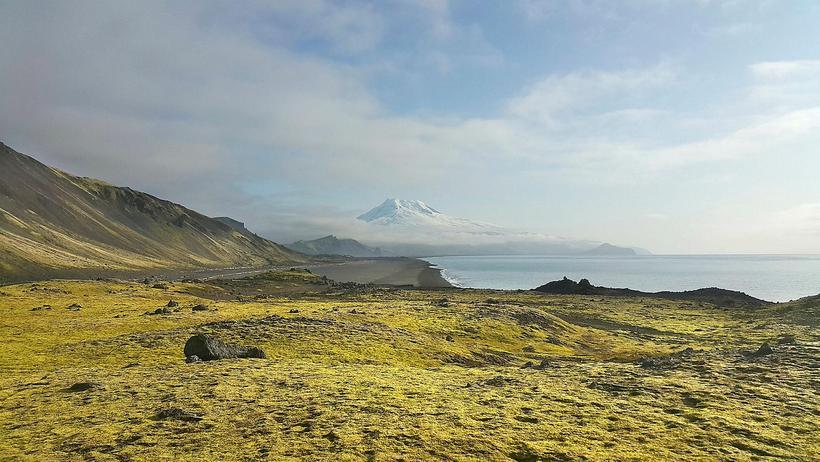 Náttúrufegurð er mikil á Jan Mayen, hér má sjá hið ...