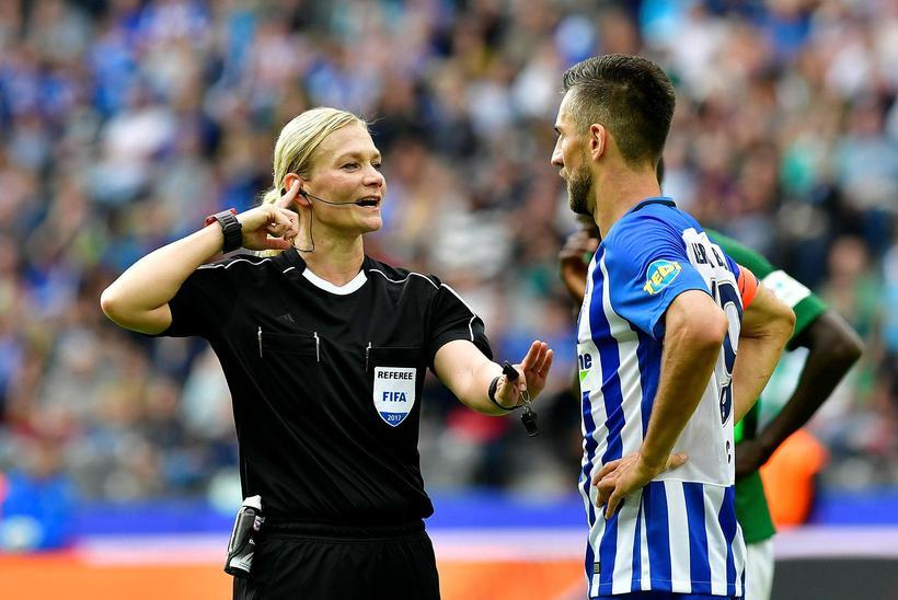 Barbara Steinhaus varð haustið 2017 fyrsta konan til að dæma ...
