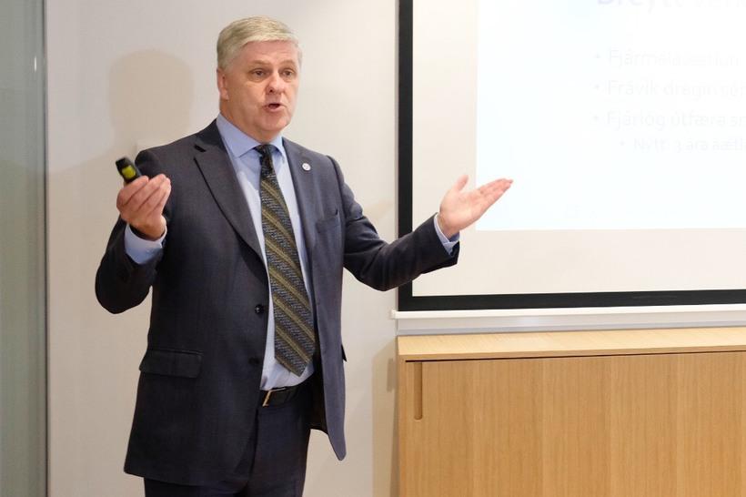 Benedikt Jóhannesson fjármálaráðherra.