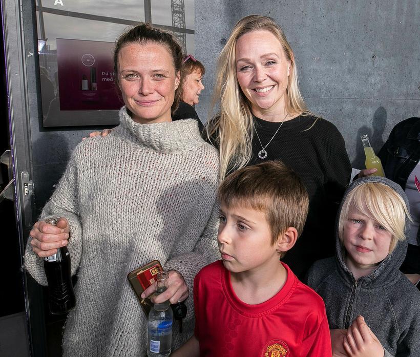 Laufey Elíasdóttir, Halldóra Rut, Elías og Baldur Hrafn.