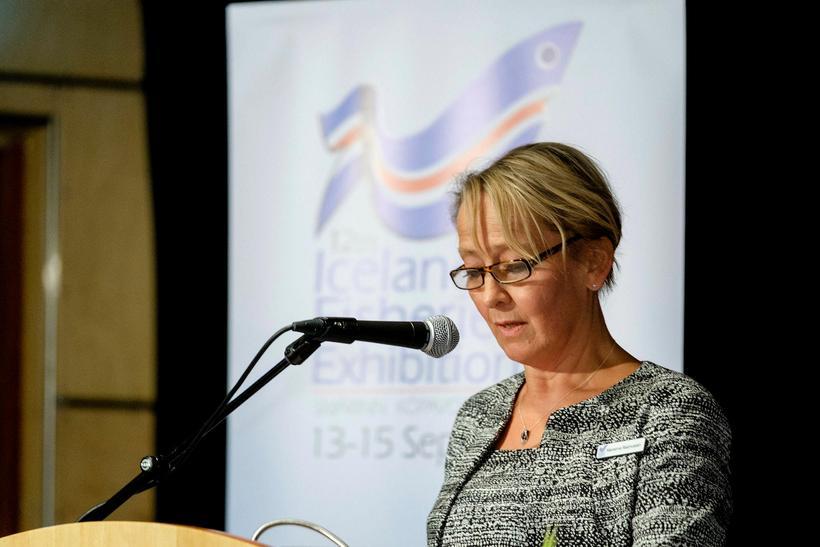 Marianne Rasmussen-Coulling, framkvæmdastjóri sýningarinnar, flutti ávarp.