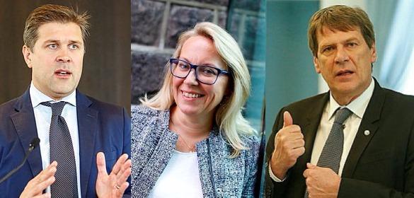 Prime Minister Bjarni Benediktsson, Minister of Justice Sigríður Andersen and ...