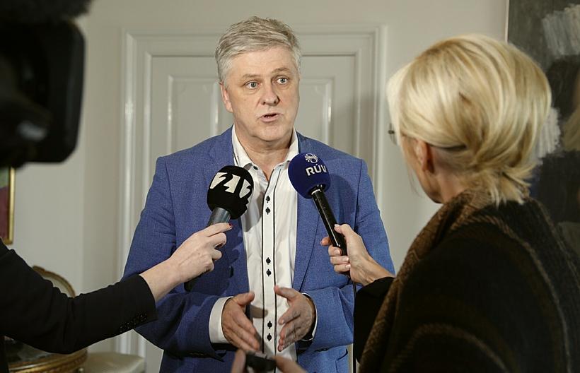 Benedikt Jóhannesson á Bessastöðum í dag.