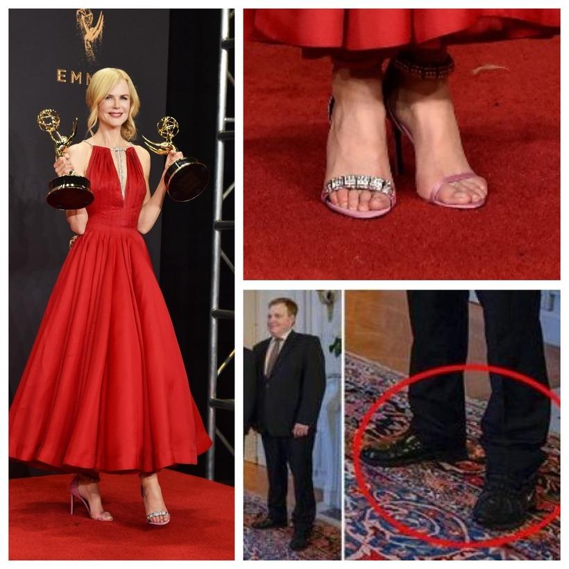 Skórnir sem Nicole Kidman klæddist á Emmy-verðlaunahátíðinni vakti athygli.