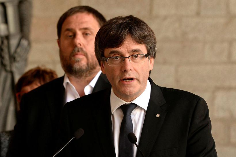 Carles Puigdemont, forseti Katalóníu, segir spænsk stjórnvöld í raun hafa …