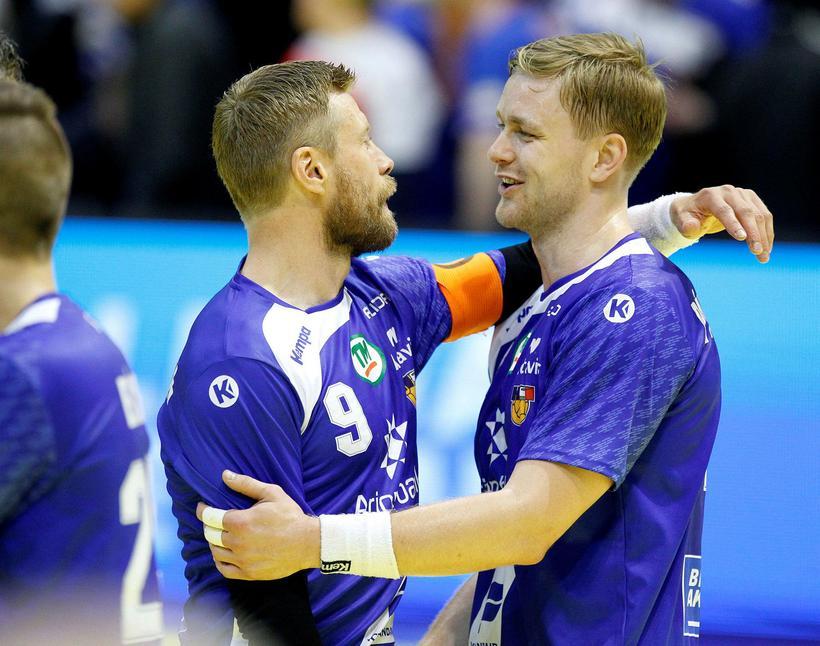 Guðjón Valur Sigurðsson og Aron Pálmarsson.