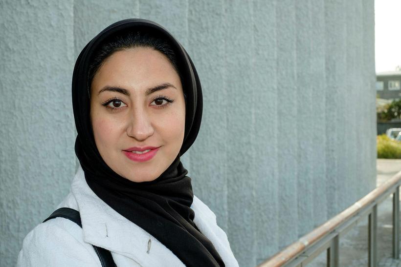 Zahra Mesbah kom hingað til lands sem flóttamaður fyrir fimm …
