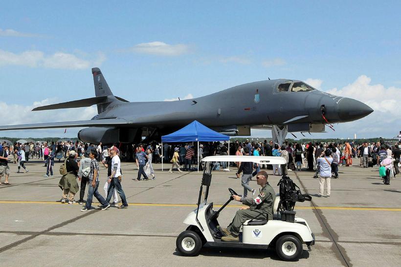 B-1B Lancer, sprengjuflugvél bandaríska hersins.