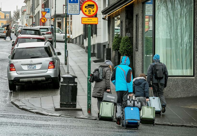Ferðamenn í miðbæ Reykjavíkur. Mynd úr safni.