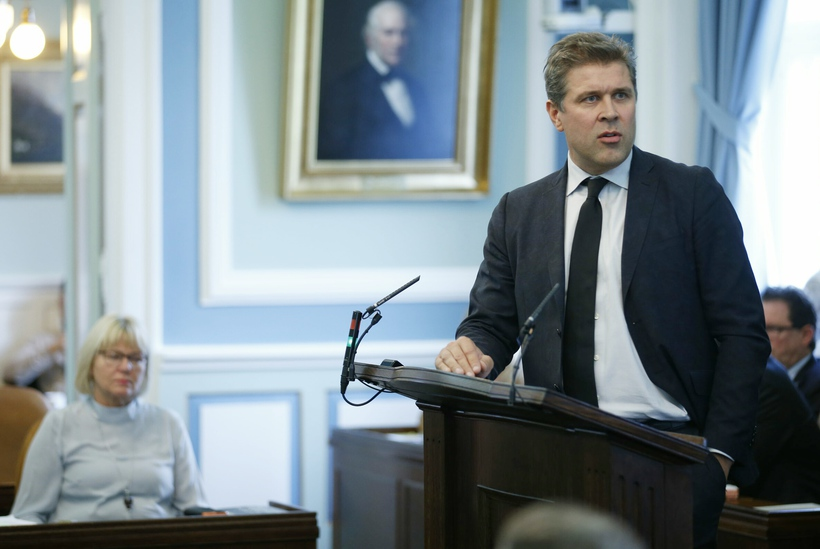 Bjarni Benediktsson forsætisráðherra á Alþingi í dag.