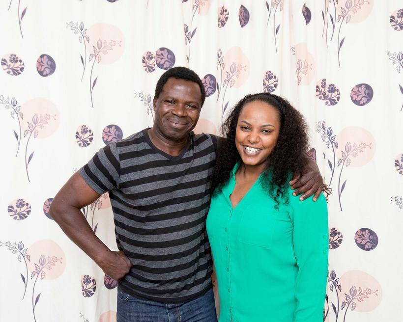 Paul Ramses Oduor og Rosemary Atieno Odhiambo búa ásamt börnum …