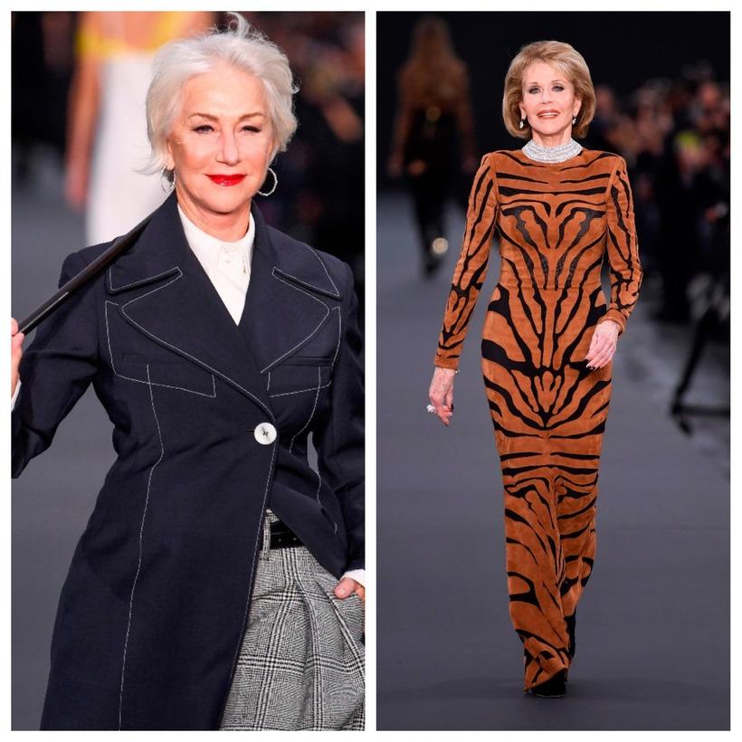 Helen Mirren og Jane Fonda voru glæsilegar í París.