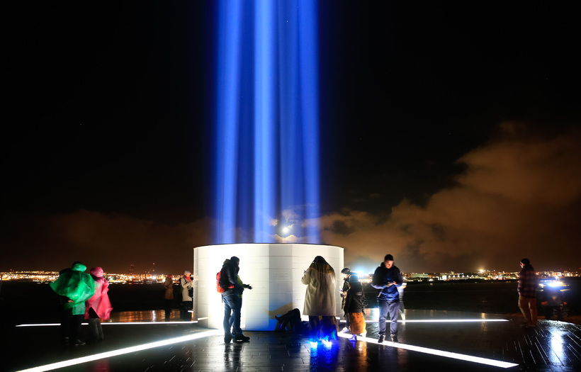 From the Imagine Peace Tower ceremony last year.
