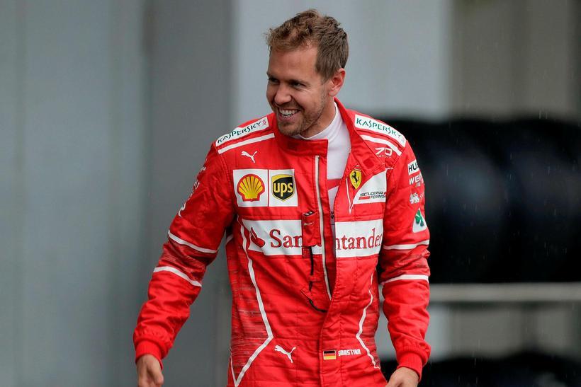 Sebastian Vettel í Suzuka í morgun.