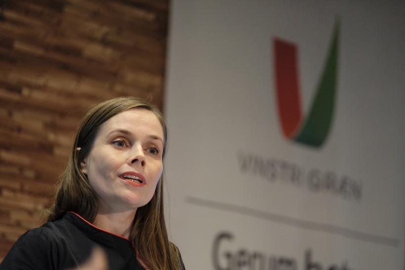 Katrín Jakobsdóttir á Landsfundi Vinstri grænna.