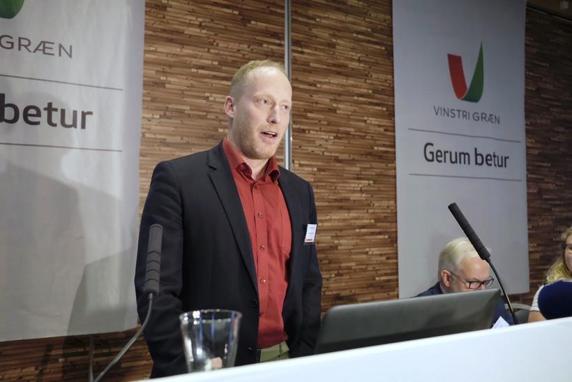 Edward H. Hujibens varaformaður VG.