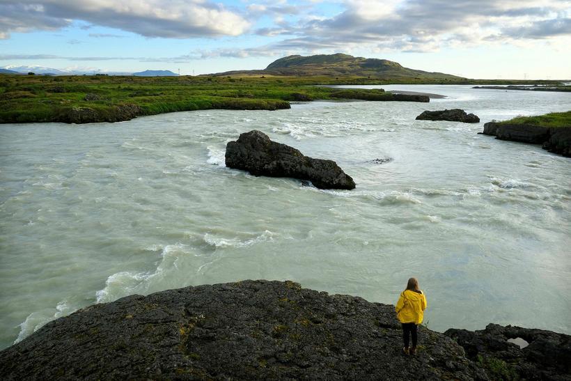 Inntakslónið sem þarf fyrir Hvammsvirkjun yrði 4 ferkílómetrar að stærð. ...
