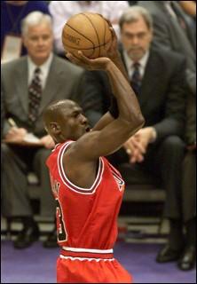 Michael Jordan lætur vaða.